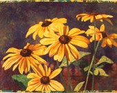 Black Eyed Susans Art Quilt Pattern by Lenore Crawford