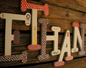 Nursery Letters - Baby Name Letters - Name Wall Letters - Whimsical Font