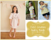 INSTANT Download SIG Audrey Peasant Dress with Sash Pattern eBook Bundle - Size 0-3 month to 14 youth