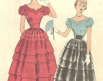 5587 Advance Vintage Blouse Skirt 1950s size 11 FF