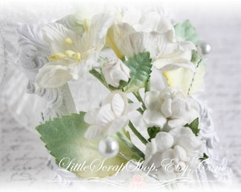 Whisper White Handmade Vine Embellishments for Scrapbooking, Cardmaking, Mini Album, Altered Art,