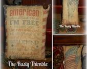 Special Buy Printed Patriotic pillow tucks