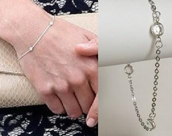 Kate Middleton Diamonds by the Yard bracelet (gold or silver)- b387/577