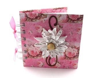Written in Flowers Gratitude Book, gratitude journal, thank you book, thank you journal, gratitude diary, blessings book - rose pink