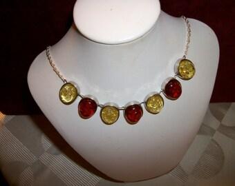 Baltic Amber bib Necklace Boho