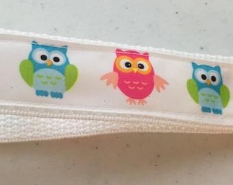 Cute Adorable Owls Keychain wristlet