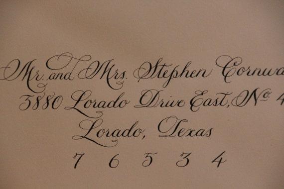 Wedding Invitation Envelope Calligraphy: Items Similar To Wedding Invitation Envelope Calligraphy