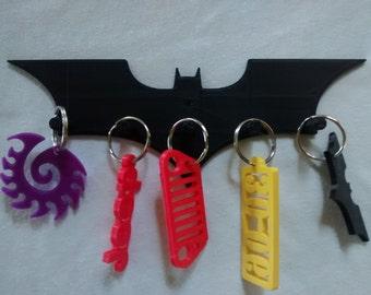 Plastic Dark Knight Batman Key Rack / Jewelry Organizer  Wall Key Rack Batman Version B