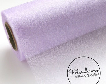 29cm (11.4 Inch) Wide Shimmer Organza Fabric for Millinery & Crafts 1 Yard - Lilac
