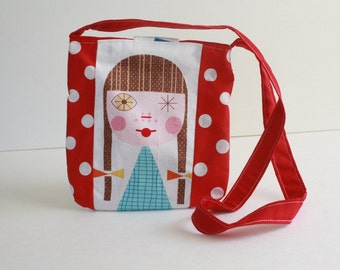 Polka dot Susie girls purse- over shoulder kids purse-Girls Purse