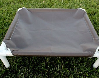 """Dog Bed Cot, Pvc Dog Bed, 23"""" by 27"""", Brown Dog Bed,  Dog Bed, Canvas Brown Dog Cot"""