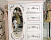 Painted Cottage Chic Shabby Romantic French  Dresser LGDR05