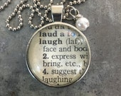 Dictionary Word Necklace - Laugh