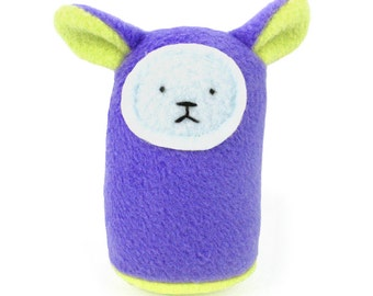 Plush Baby Rattle - Purple