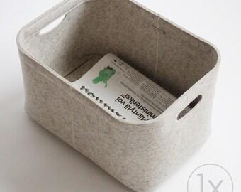 Small Size / Custom-made Felt Storage Basket / Storage Box for a Shelf