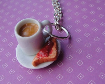 Funky Handmade Tea and toast Necklace