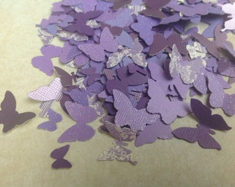 Beautiful  125 pc Paper Butterflies Purples Lavenders