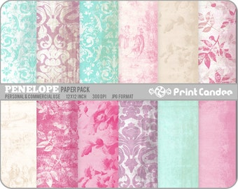 Penelope Paper Pack (12 Sheets) - Personal and Commercial Use