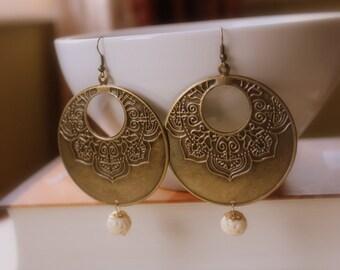 Bohemian earrings, Boho Jewelry, Gypsy Earrings, Tribal Jewelry, Funky Earrings