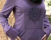 ON SALE Females Feather Scrunch Neck Hoodie