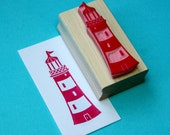 Lighthouse Hand Carved Rubber Stamp