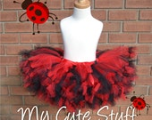 Ladybug Colors  Princess Tutu - Sizes 6 Months to 5T - Birthday Tutu, Photo Props, Holidays, Baby Shower Gift, Custom Tutu