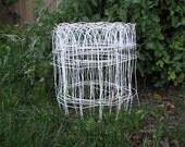 Vintage Wire Fencing - White Wire Fencing - Garden Fencing - Wavy Wire - Flower - Border - Approx. 20 feet - Salvage