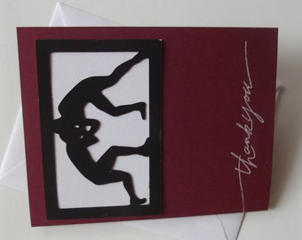 Wrestle Wrestling Cards Freestyle Folkstyle Greco Thank You Cards  Any Sport - Perfect for Coach End of the Year Gift Birthday Parties