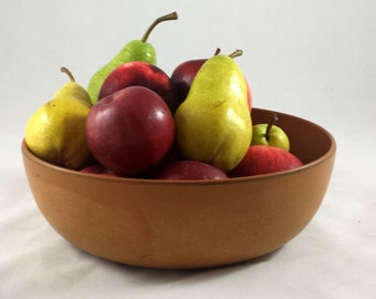 Vintage Ellingers Salad Fruit Bowl. Agatized Wood Inc. #100. 1950s Mod Decor