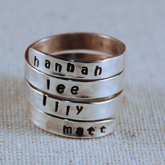 personalized ring sterling silver ring by