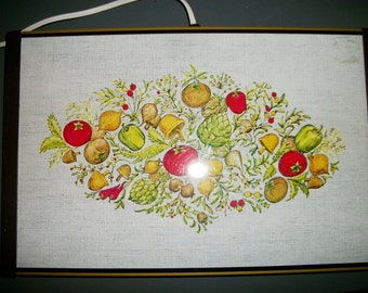 Vintage Vegetable Themed Warming Tray by Atlantic Precision Works