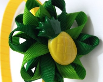 Pineapple Hair Bow Headband