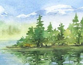 Original  Landscape Painting - By the Lake Shore