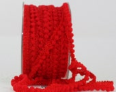 """Red Mini Pom Pom Trim, 1/8"""" Ribbon by the yard, Crafts, Sewing, Christmas Ribbon, Gift Wrapping, Red Trim, Party Supplies, Costumes"""
