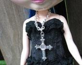 Cross Fashion Doll Necklace for Blythe Monster High Dolls Pullip Dal Barbie BJD