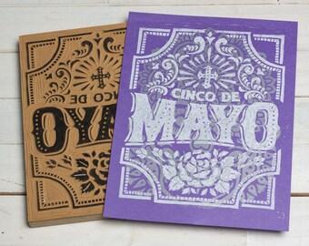 Cinco De Mayo - Purple Block Print