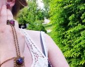 Fire Opal Bracelet, Slave Bracelet, Bracelet with Ring, Chained Ring, Opal Bracelet, Opal Slave Bracelet, Fire Opal Bracelet, Autumn finds