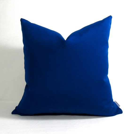 True Modern Pillows : Royal Blue Outdoor Pillow Cover Modern Blue Pillow by Mazizmuse