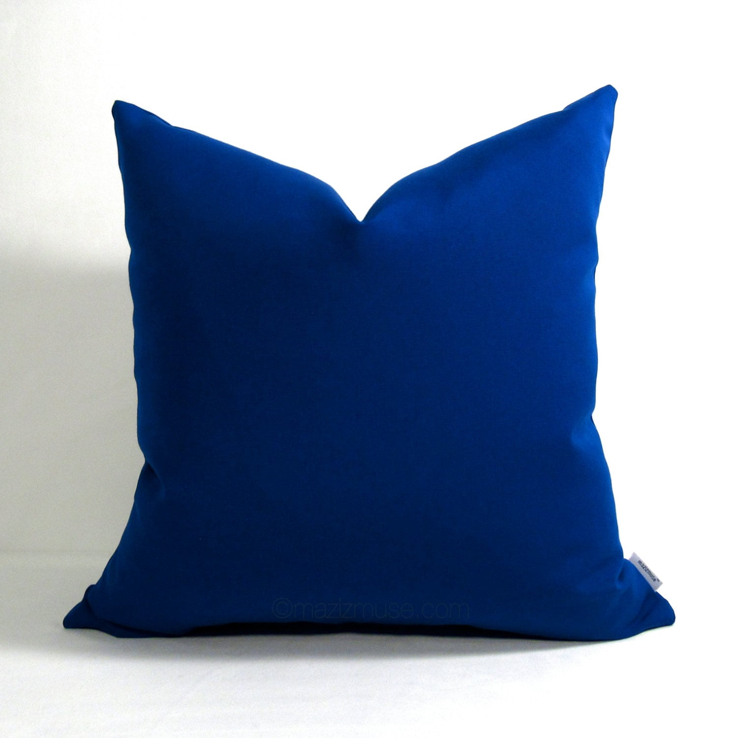 Throw Pillows Royal Blue : Royal Blue Outdoor Pillow Cover Decorative Sapphire Blue