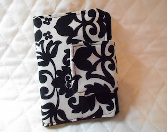 Black and White Print  Rewards Card /  Business / Credit  Card / Debit  Mini Case Holder with Velcro  Closure