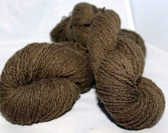 30% off STORE CLOSING SALE Tree Bark Brown Lambswool Cashmere Yarn, Upcycled Yarn, Fingering Weight Yarn - 375 Yards