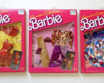 80s Mattel Barbie Private Collection Fashions MIP / Two Available