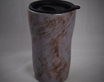 Purple Ceramic Tumbler with a lid