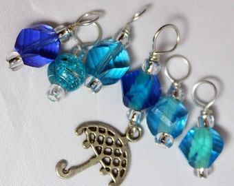 House Sock: Singing in the Rain Stitch Markers