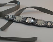 Steel Gray  Choker Rhinestone Necklace Neckwear Cyber Sale