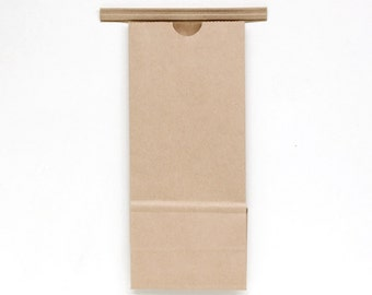 Small KRAFT Paper Bakery Bags - set of 12 - Cookie Sweets Packaging Wedding Favor - .5 lb size