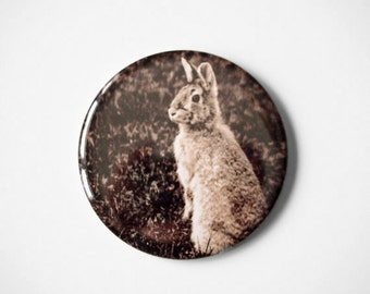 "Woodland Bunny - Mademoiselle Lapina   - 2.25"" Magnet"