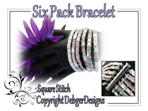 Six Pack Bracelet - Tila Beading Pattern Tutorial
