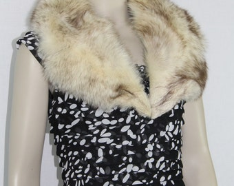 1950's Vintage Rabbit Fur Collar