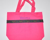 ABC Tote Bag with Monogram Name Embroidered on it, Personalized Bag, Swin Bag, Daycare Bag, Toy Bag, Easter Basket Bag